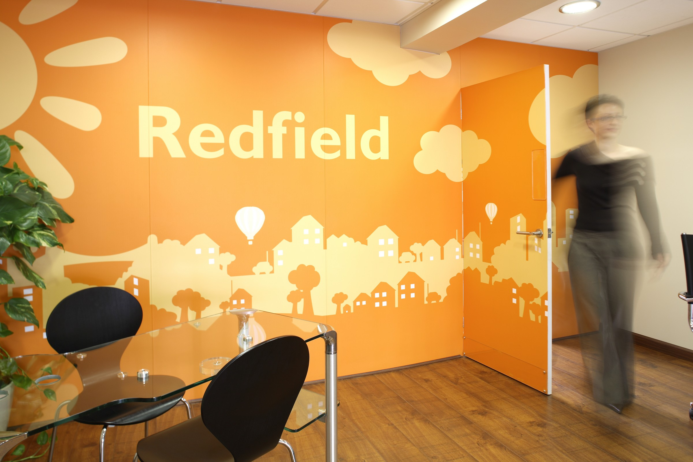 An example of Interior Wall Display Graphics