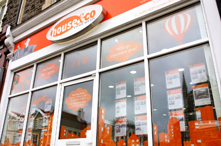 Window Vinyl and House Details Templates for House and Co Estate Agents