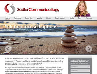 Web design - Sadler Communications website